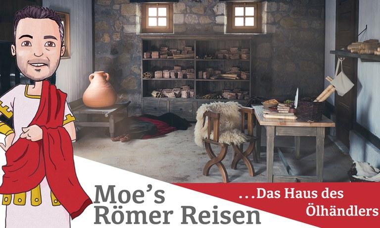 Moe hat es sich nicht nehmen lassen und als erster das neue Haus des Ölhändlers im Römischen Stadtviertel besucht.