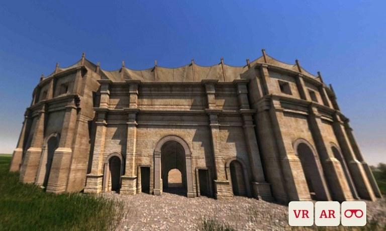 Unsichtbares sichtbar machen! Entdecke mit der neuen Carnuntum App die unter der Erde verborgenen Teile der Stadt. An sieben Erlebnispunkten in Carnuntum erstehen die antiken Gebäude in deinem Kamerabild.