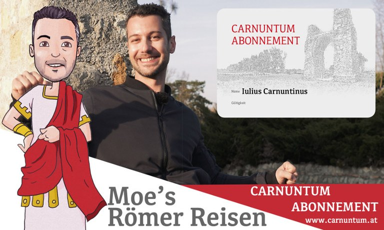 Zum Start der neuen Saison in der Römerstadt stellt euch Moe das Carnuntum-Abonnement und alle seine Vorzüge vor.