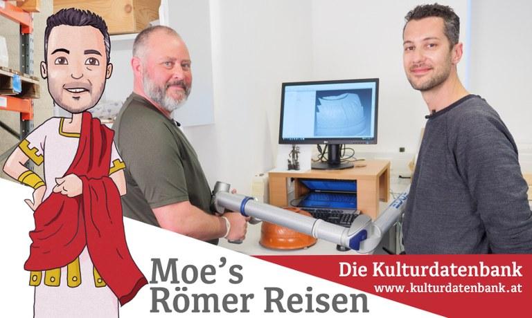 Moe darf wie versprochen noch einmal die Kulturfabrik in Hainburg besuchen. Dabei lernt er die faszinierenden Möglichkeiten des Laserscans kennen.