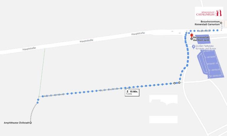 Die Strecke der Bambini Route.